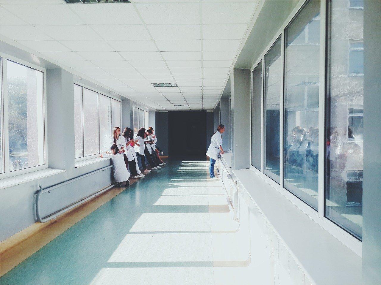 Doctors in the hallway